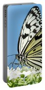 Butterfly On Blue Portable Battery Charger
