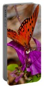 Butterfly On Bouganvilla Portable Battery Charger