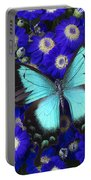 Butterfly On Cineraria Portable Battery Charger