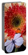 Butterfly On Daisy Portable Battery Charger