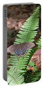 Butterfly On Fern Portable Battery Charger