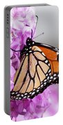 Butterfly On Phlox Flowers Portable Battery Charger