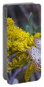 Butterfly On Yellow Portable Battery Charger