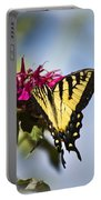 Butterfly Out Of The Blue - Blue Butterfly Art Portable Battery Charger