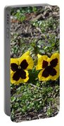 Butterfly Pansies Portable Battery Charger