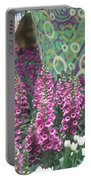 Butterfly Park Flowers Painted Wall Las Vegas Portable Battery Charger