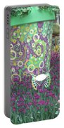 Butterfly Park Garden Painted Green Theme Portable Battery Charger