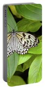 Butterfly Perching On Leaf In A Garden Portable Battery Charger