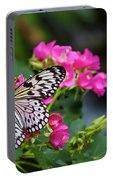 Butterfly Pollinating Flower Portable Battery Charger