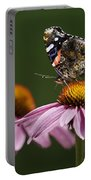 Butterfly Red Admiral On Echinacea Portable Battery Charger