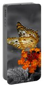 Butterfly Wings Of Sun Light Selective Coloring Black And White Digital Art Portable Battery Charger