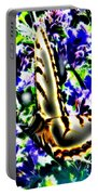 Butterfly With Purple Flowers 4 Portable Battery Charger