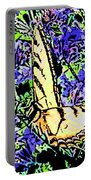 Butterfly With Purple Flowers Portable Battery Charger
