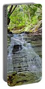 Butternut Falls Portable Battery Charger by Frozen in Time Fine Art Photography