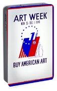 Buy American Week Art Nov 25 - Dec 1 1940  Portable Battery Charger