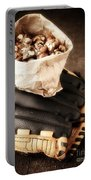 Buy Me Some Peanuts And Cracker Jack Portable Battery Charger by Edward Fielding
