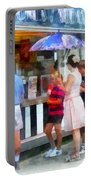 Buying Ice Cream At The Fair Portable Battery Charger