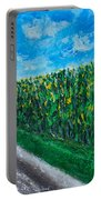 By An Indiana Cornfield The Road Home Portable Battery Charger
