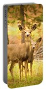 By Mama's Side - Photo Manipulation - Mule Deer - Casper Mountain - Casper Wyoming Portable Battery Charger