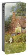 By The Cottage Gate Wc On Paper Portable Battery Charger