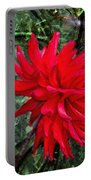 By The Garden Gate - Red Dahlia Portable Battery Charger