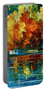 By The Rivershore Portable Battery Charger by Leonid Afremov