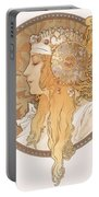 Byzantine Head Of A Blond Maiden Portable Battery Charger