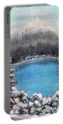 Cabin By The Lake - Winter Portable Battery Charger by Barbara Griffin