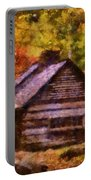 Cabin In Autumn Portable Battery Charger