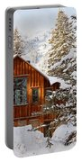 Cabin In Snow Portable Battery Charger
