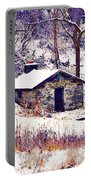 Cabin In The Snow Portable Battery Charger