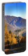 Cableway In Autumn Portable Battery Charger