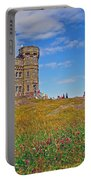 Cabot Tower In Signal Hill National Historic Site In Saint John's-nl Portable Battery Charger
