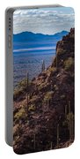 Cacti Covered Rock At Tucson Mountains Portable Battery Charger
