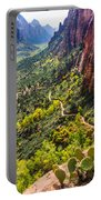Cacti View Of Zion Portable Battery Charger