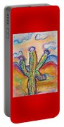 Cactus And Clouds Portable Battery Charger