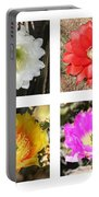Cactus Blooms Collage Portable Battery Charger