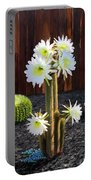 Cactus Blooms Portable Battery Charger