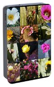 Cactus Collage Portable Battery Charger