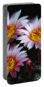 Cactus Flowers With Texture Portable Battery Charger