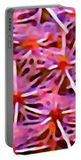 Cactus Pattern 2 Pink Portable Battery Charger by Amy Vangsgard