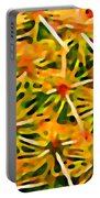 Cactus Pattern 2 Yellow Portable Battery Charger
