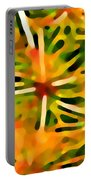 Cactus Pattern 3 Yellow Portable Battery Charger by Amy Vangsgard