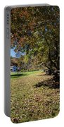 Cades Cove House And Fall Colors Portable Battery Charger
