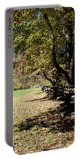 Cades Cove House And Split Rail Fence Portable Battery Charger