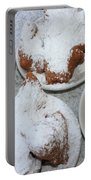 Cafe Au Lait And Beignets Portable Battery Charger by Carol Groenen