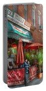 Cafe - Hoboken Nj - Vito's Italian Deli  Portable Battery Charger by Mike Savad