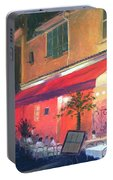 Cafe Scene Cannes France Portable Battery Charger