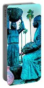 Cahuilla Women Sculpture In Palm Springs-california  Portable Battery Charger