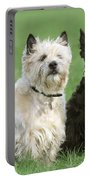 Cairn Terrier And Scottish Terrier Portable Battery Charger